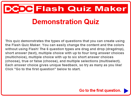 Click on the screenshot to check out an example quiz.