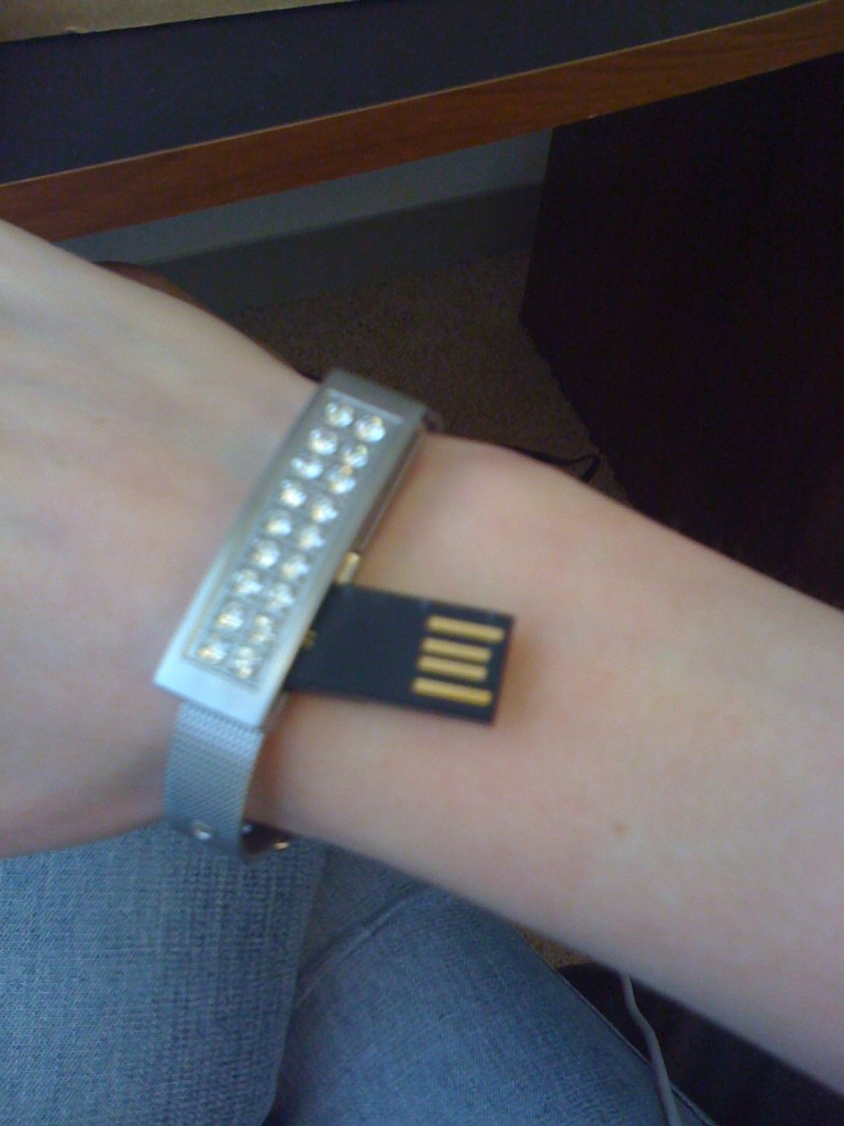 USB bracelet - unfolded