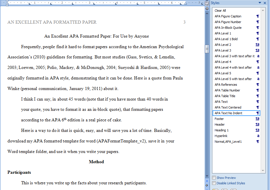 Check my paper for apa format